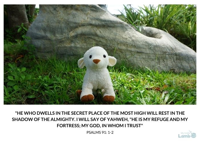 He who dwells in the secret place of the most high will rest in the shadow of the almighty. i will say of yahweh he is my refuge and my fortress my god in whom i trust